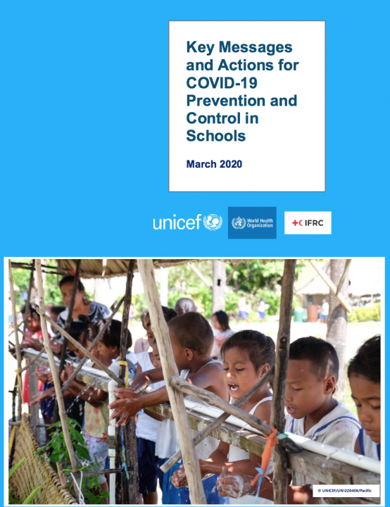 Key messages and actions for coronavirus disease (COVID-19) prevention and control in schools