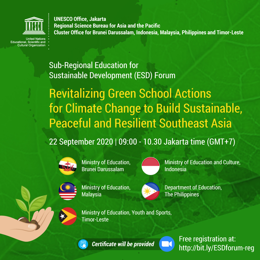 Sub-Regional Education for Sustaibable Development (ESD) Forum 2020