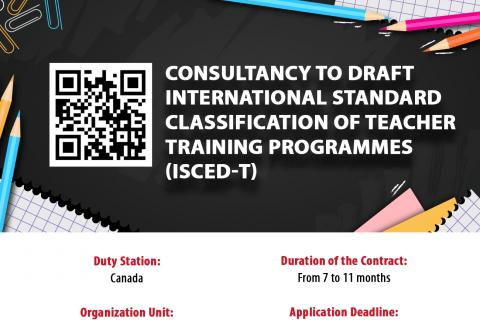 Consultancy to Draft International Standard Classification of Teacher Training Programmes (ISCED-T)